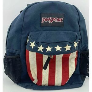 Vintage Jansport USA Flag Retro Backpack RARE